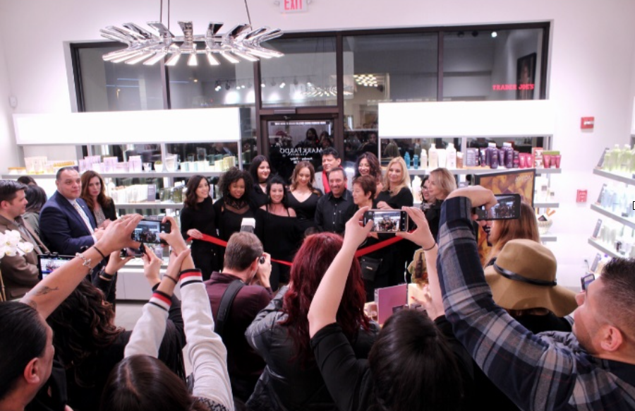 Celebrating Mark Pardo AVEDA Winrock's Grand Opening!